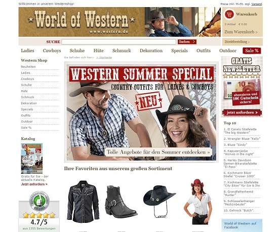 World of Western Katalog
