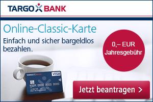 Die kostenlose Online-Classic-Karte der Targobank