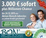 Sofortkredit plus die Chance auf 1 Million Euro