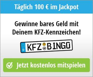 kfz bingo gewinnspiel t glich werden 100 euro verlost. Black Bedroom Furniture Sets. Home Design Ideas