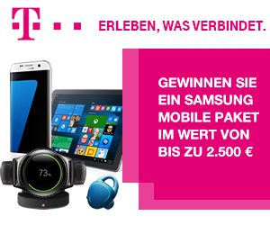 Telekom Samsung Mobile Paket Gewinnspiel