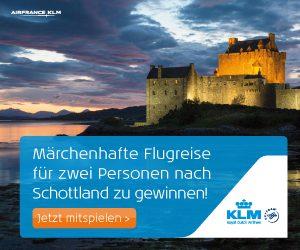KLM Schottland Gewinnspiel