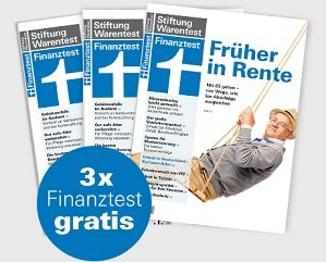 3 Ausgaben Finanztest kostenlos