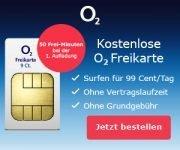 o2 Prepaid-Karte kostenlos