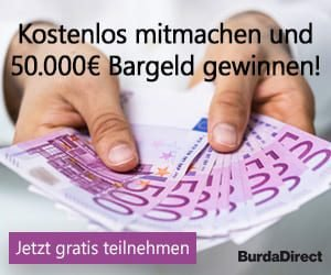 Burda Bargeldgewinnspiel