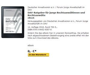eBook DAV-Ratgeber GRATIS