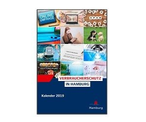Verbraucherschutzkalender 2019 GRATIS