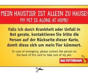 Futterhaus-Notfallkarte
