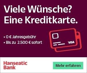 VISA Kreditkarte gratis