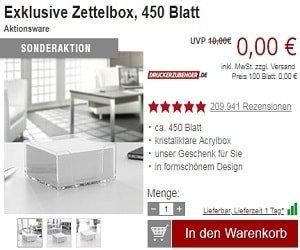 Gratisangebote druckerzubehoer.de
