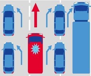 Rettungsgasse-Aufkleber gratis