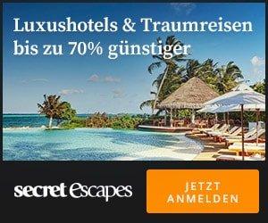 Secret Escapes - Traumreisen und Luxushotels bis zu 70% günstiger