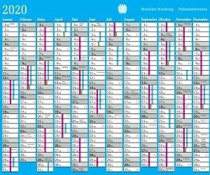 Parlamentsterminkalender 2020