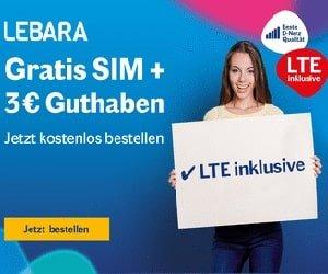 Lebara Gratis SIM-Karte