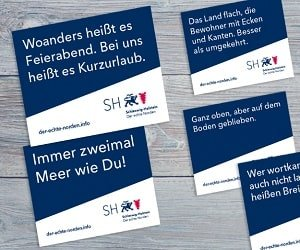 Schleswig Holstein Aufkleber und Postkarten