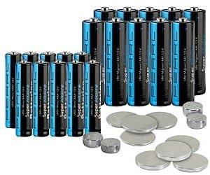 PEARL 32-teiliges Batterie-Set
