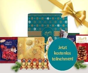 Lindt Schokoladen-Paket Gewinnspiel