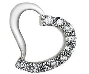 PEARL Silber-Herzanhänger