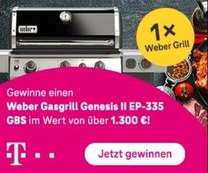Telekom Weber Grill Gewinnspiel