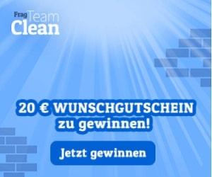 Frag Team Clean Gewinnspiel